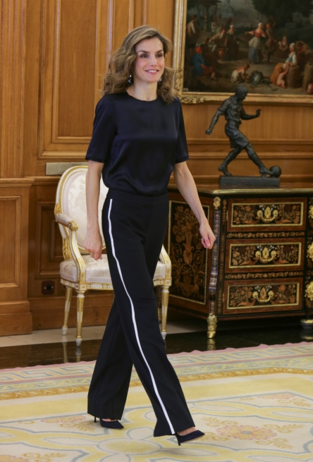 Queen Letizia of Spain receives in audience to association ASACO at ZarzuelaPalace in Madrid, Thursday 27 October 2016